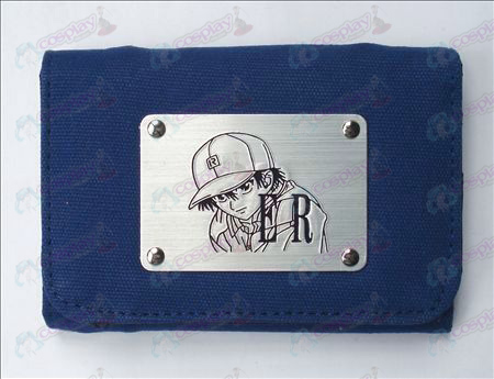 The Prince of Tennis Zubehör White Canvas Wallet (Blau)