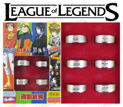League of Legends Zubehör Frosted Ring (6 / set)
