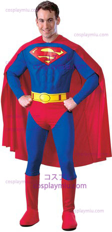 Superman Adult Muscle Dlx Large