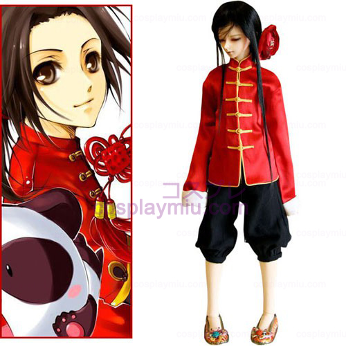Hetalia: Axis Powers China Wang Yao Cosplay Kostüme