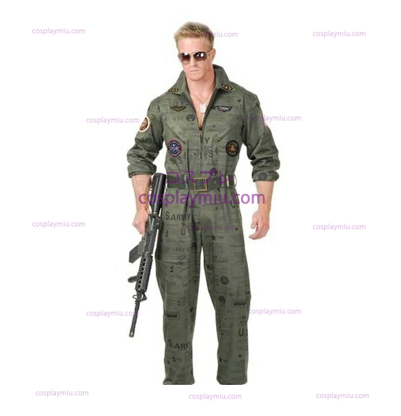 Top Gun Air Force Army Flight Suit Halloween Kostüme