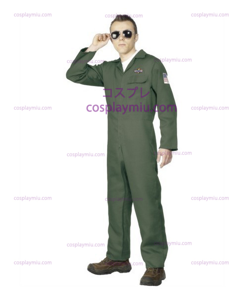 Adult Mens Aviator Topgun Pilot Fancy Kleiden Kostüme