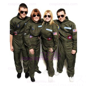 Top Gun Kostüme Partei Flight Suit