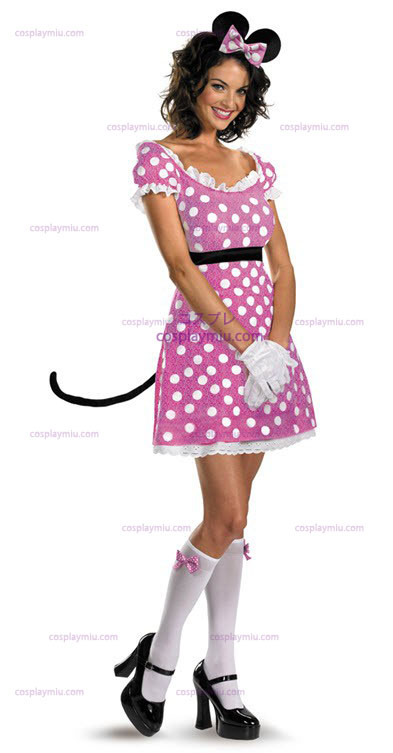 Disney Clubhouse Rosa Minnie Maus Adult Kostüme