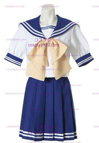 Blue And White Short Sleeves Sailor Schuluniform