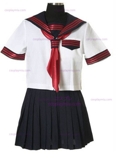 Short Sleeves Sailor Schuluniform Cosplay Kostüme