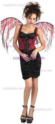 Flügel Red Lace Black Corset