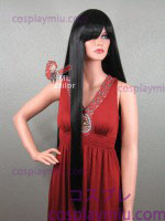 "36 ""Straight Black Long Cosplay Perücke"