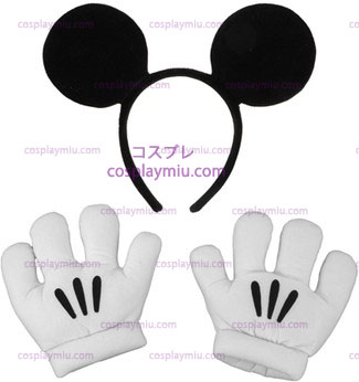 Mickey Ears / Handschuhe Set
