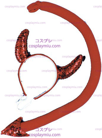 Sequin Teufel Horn / Tail Set