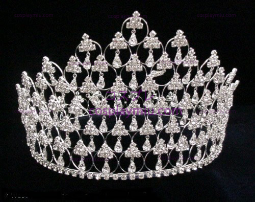 Strass Crown SilverICrowns und Tiaras-CT010