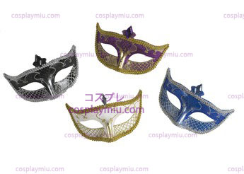Carnival Mask No Feather Schwarz